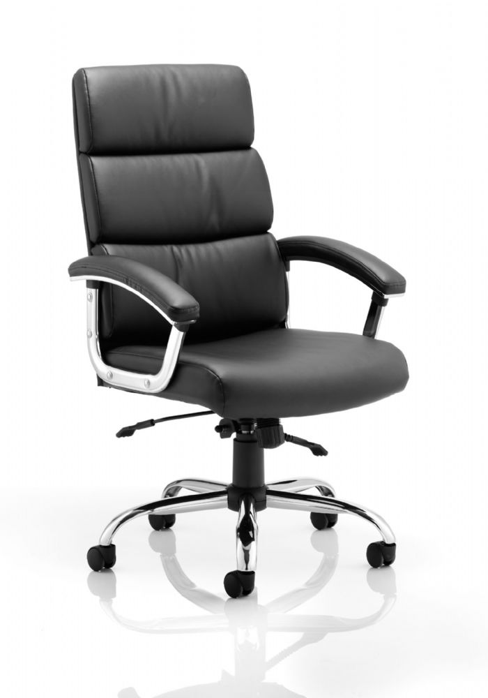 Desire Deep Padded Executive Chair High Backrest Task Fixed Cushioned Armpads Various Leathers